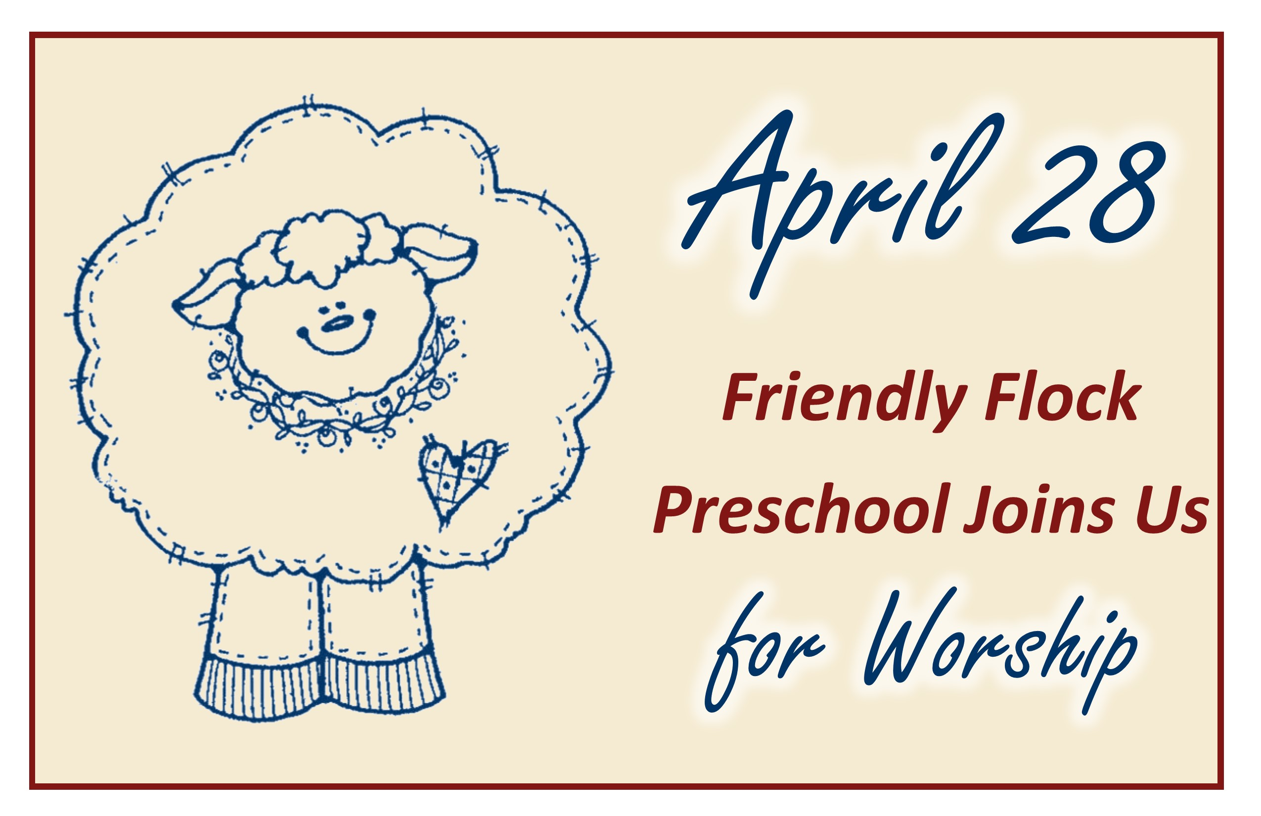 04 28 2019 Friendly Flock Sunday Poster