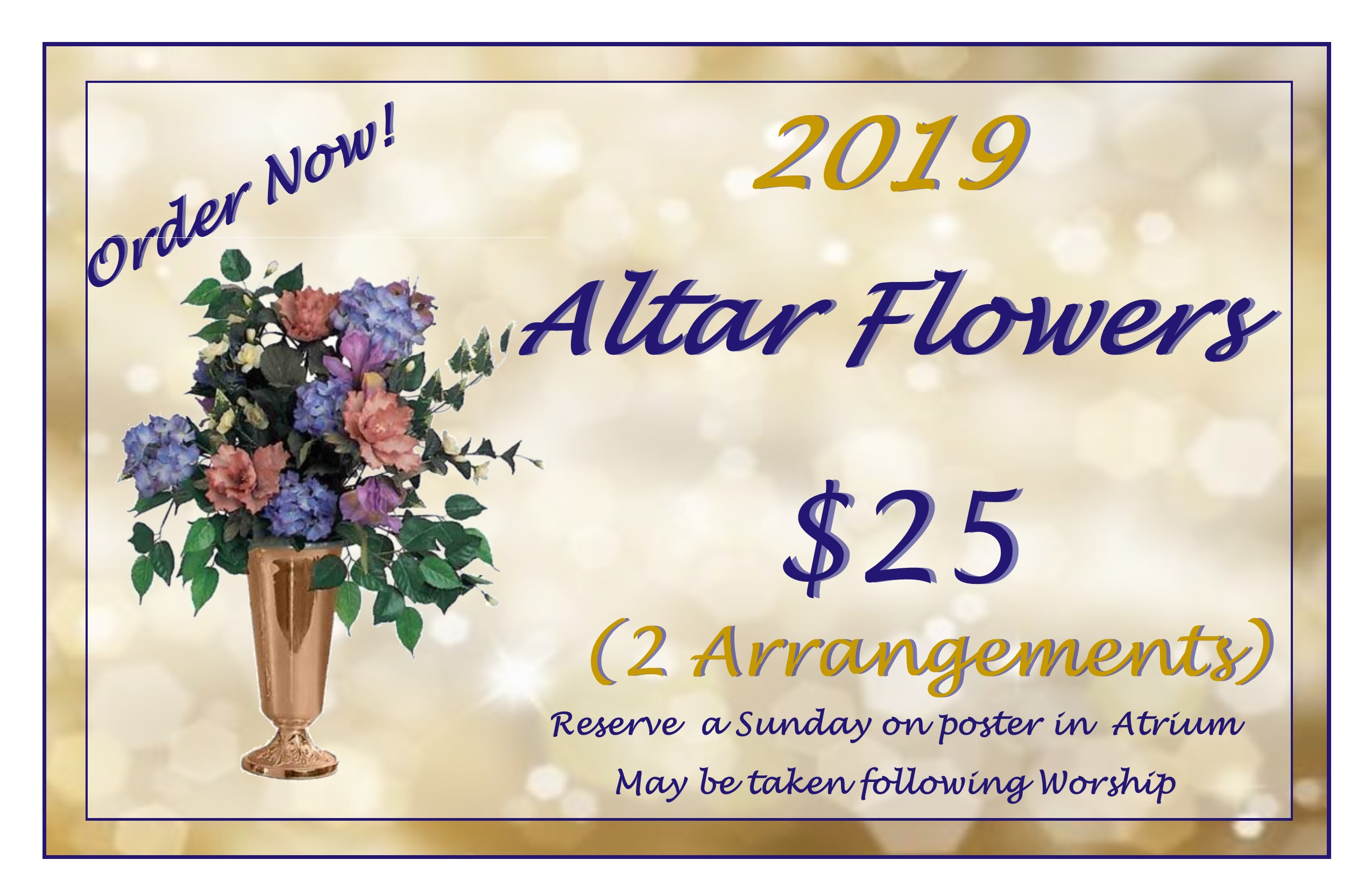 01 24 2019 Altar Flowers Poster Copy
